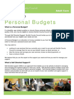 Your Guide to Personal Budgets - Norfolk county Council
