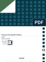 Vox Populi - Rejeição Temer - Divulgação 27/07