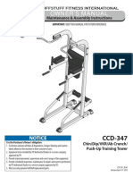 Evolution Chin / Dip / VKR / Ab Crunch / Push-up Stand (CCD-347) Owner's Manual