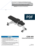 Deluxe Flat / Incline Bench (CDM-400) Owner's Manual