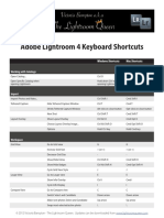 Lightroom Shortcuts 40