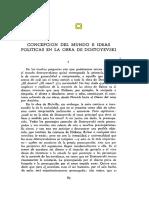 Concepción Del Mundo e Ideas Polít de Dostoevsky