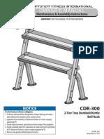 TuffStuff Evolution Dumbbell / Kettlebell Rack (CDR-300) Owner's Manual