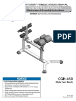 Evolution Glute / Ham Bench (CGH-450) Owner's Manual