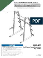 Evolution Half Cage (CHR-500) Owner's Manual