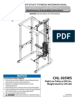 High/Low Pulley (CHL-305WS) Owner's Manual