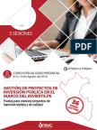 Curso Presencial Invierte Perú (AGOSTO 2018)