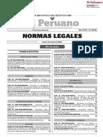 Normas Legales diario el Peruano