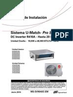 U Match 20 Seer M. Instalacion (F&C) (4UXX) MS-SVN043C-EM