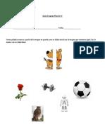Formar Palabras Nuevas Con Imagenes de Diferentes Sílabas Inicial y Final