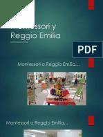 Montessori y Reggio Emilia