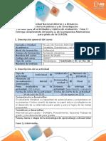 Guía de Actividades y Rúbrica de Evaluación - Fase 3 - Entrega Complemento Del Punto 3, De La Propuesta Alternativas Para Grado de La ECACEN