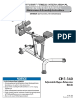TuffStuff Adjustable Hyper-Extension Bench (CHE-340) Owner's Manual