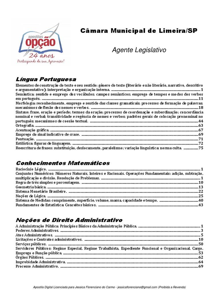 938754a5f Apostila Concurso Limeira