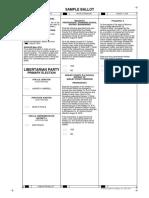 Macon County Libertarian Party Sample Ballot 8/2018