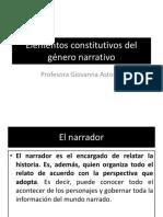 Elementos Constitutivos Del Género Narrativo