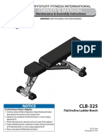 TuffStuff Flat / Incline Ladder Bench (CLB-325) Owner's Manual