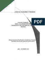 Plan Trabajo Elaboracion Diagnostico SCI MEF