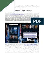 Update Link Bitbola Login Terbaru