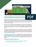Bursa Taruhan Manchester United vs Real Madrid 1 Agustus 2018