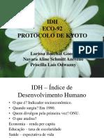 IDH Eco 92 e Protocolo de Kyoto