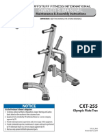 TuffStuff Evolution Olympic Plate Tree (CXT-255) Owner's Manual