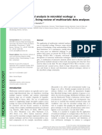2015 a Guide to Statistical Analysis in Microbial Ecology- A Community-focused, Living Review of Multivariate Data Analyses