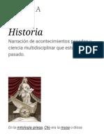 Historia - Wikipedia, La Enciclopedia Libre