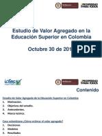 Edwin Cuellar - Estudio de Valor Agregado en Educacion Superior en Colombia