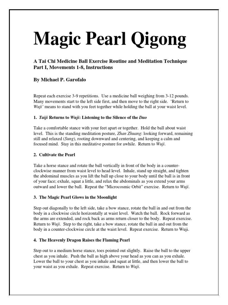 Magic Pearl Qigong Lessons | Tai Chi | Leisure
