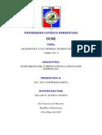 Análisis de La Ley General de Educación 66-97
