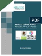 1 Manual de Indicadores Programa Pueblos Magicos