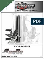 Apollo 7000 Leg Extension / Curl Station (AP-71LE) Owner's Manual