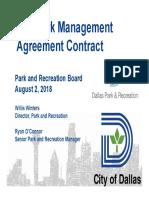 Fair Park Management Briefing