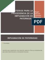 Criterios Para La Procedencia de La Impugnación de Paternidad