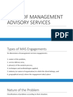 Areas of Management Advisory Services