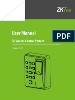 X7 Access Control System User Manual V1.2.1EU