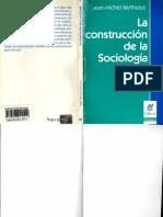 La Construcción de La Sociología Berthelot