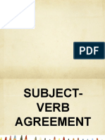 5. Subject-Verb Agreement