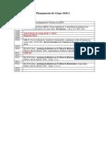 Planejamento do grupo de pesquisa em 2018-2