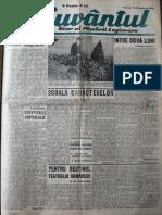 Cuvantul anul XVII (serie noua) nr. 3, 16 oct. 1940