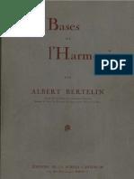 Albert Berthelin - Les Bases de l'Harmonie