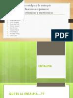 Grupo 2 Entalpia, Entropia y Reacciones Quimicas