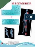 Infografía sobre las lesiones deportivas.