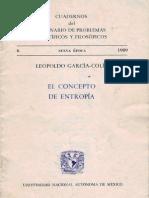 [Cuadernos Del Seminario de Problemas Científicos y Filosóficos] Leopoldo García Colín - El Concepto de Entropía (1989, Nueva Epoca)