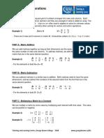 Basic Matrix Operations