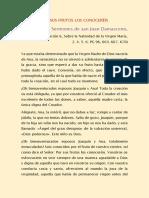 San Juan Damasceno, Obispo. Por Sus Frutos Los Conoceréis (Sobre San Joaquín y Santa Ana)
