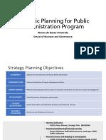 Strategic Planning for Public Admin program