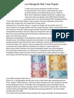 Penguatan Yuan Turut Mengerek Nilai Tukar Rupiah