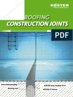 KOESTER System Brochure Waterproofing of Construction Joints